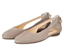Cut-out-Ballerinas - taupe