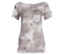 T-Shirt FIRE - weiss/ khaki
