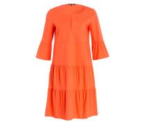 Kleid mit Trompetenärmel - orange