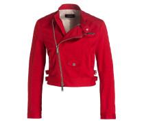 Jacke im Biker-Stil - rot