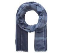 Schal mit Cashmere-Anteil - blau/ hellblau