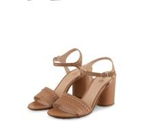 Sandaletten mit Nietenbesatz - BEIGE