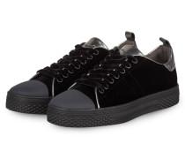 Samt-Sneaker STELA - schwarz/ silber