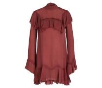 Bluse REYES mit Seidenanteil - rostrot