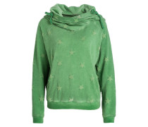 Hoodie STAR BOXY - grün