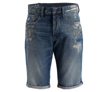 Jeans-Shorts 3301 Straight-Fit - blau