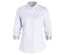 Bluse mit 3/4-Arm - blau/ weiss gestreift