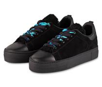 Plateau-Sneaker FLOWER - schwarz