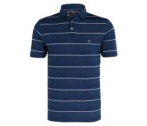 Piqué-Poloshirt - blau/ weiss gestreift