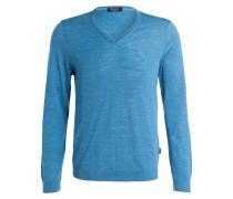 Pullover - hellblau meliert