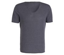 T-Shirt BRADY - graublau/weiss meliert