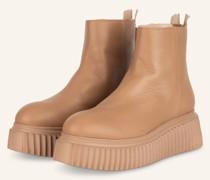 Plateau-Boots SANDY - NUDE
