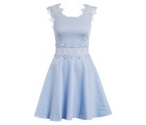 Kleid MONAA mit Spitzeneinsatz - hellblau
