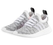 Sneaker NMD_R2 PRIMEKNIT - weiss/ grau