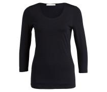 Shirt mit 3/4-Arm - schwarz