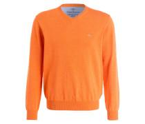 Feinstrickpullover - orange