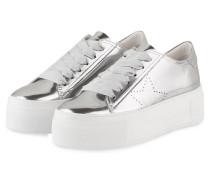 Plateau-Sneaker TOP - silber metallic