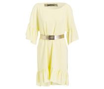 Kleid mit Volants - gelb