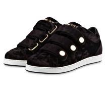Samt-Sneaker NY - schwarz