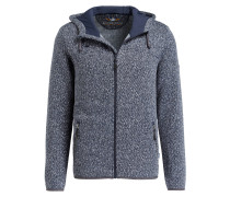Strick-Fleecejacke SALOMO - navy meliert