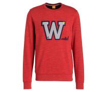 Sweatshirt VARIETY - rot meliert