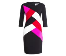 Kleid - schwarz / rot / weiss