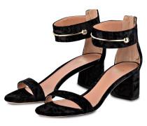 Samt-Sandaletten LILY - schwarz