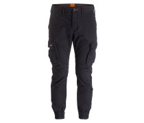 Cuffed-Cargohose ROOKIE Slim-Fit - schwarz