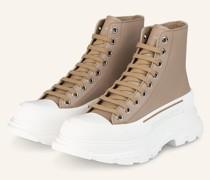 Hightop-Sneaker - CAMEL/ WEISS