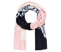 Schal - rosa/ schwarz