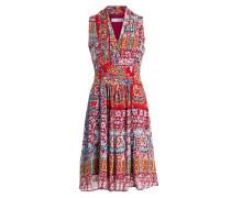 Kleid - rot/ pink/ blau