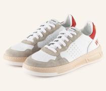 Plateau-Sneaker HYPER - WEISS/ BEIGE