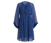 Kleid - marine/ blau/ weiss