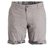 Wende-Shorts in Camouflage-Optik - grau