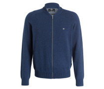 Strickjacke COLLEGE - blau meliert