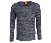 Pullover ATOUNYS mit Leinenanteil - blau