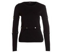 Pullover SHIRIN mit Druckknöpfen - schwarz
