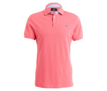 Piqué-Poloshirt Slim-Fit - koralle