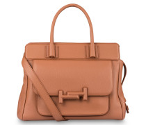 Handtasche DOUBLE T - brandy