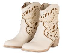 Cowboy Boots - BEIGE