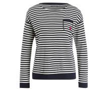 Pullover - marine/ ecru gestreift