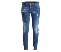 Destroyed-Jeans - hellblau denim