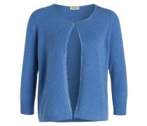 Cashmere-Cardigan - hellblau meliert