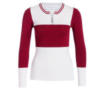 Pullover - ecru/ rot