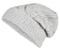 Cashmere-Mütze mit Pailetten
