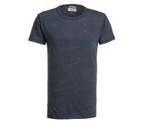 T-Shirt mit Überlänge - navy