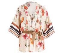 Kimono - beige/ rot/ orange