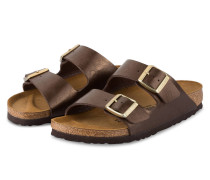 Sandalen ARIZONA - braun metallic