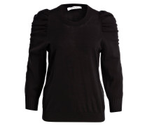 Pullover mit 3/4-Arm - schwarz