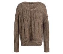 Cropped-Pullover mit Glitzergarn